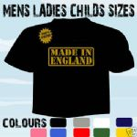 MADE IN ENGLAND FUNKY BIRTHDAY T-SHIRT ALL SIZES